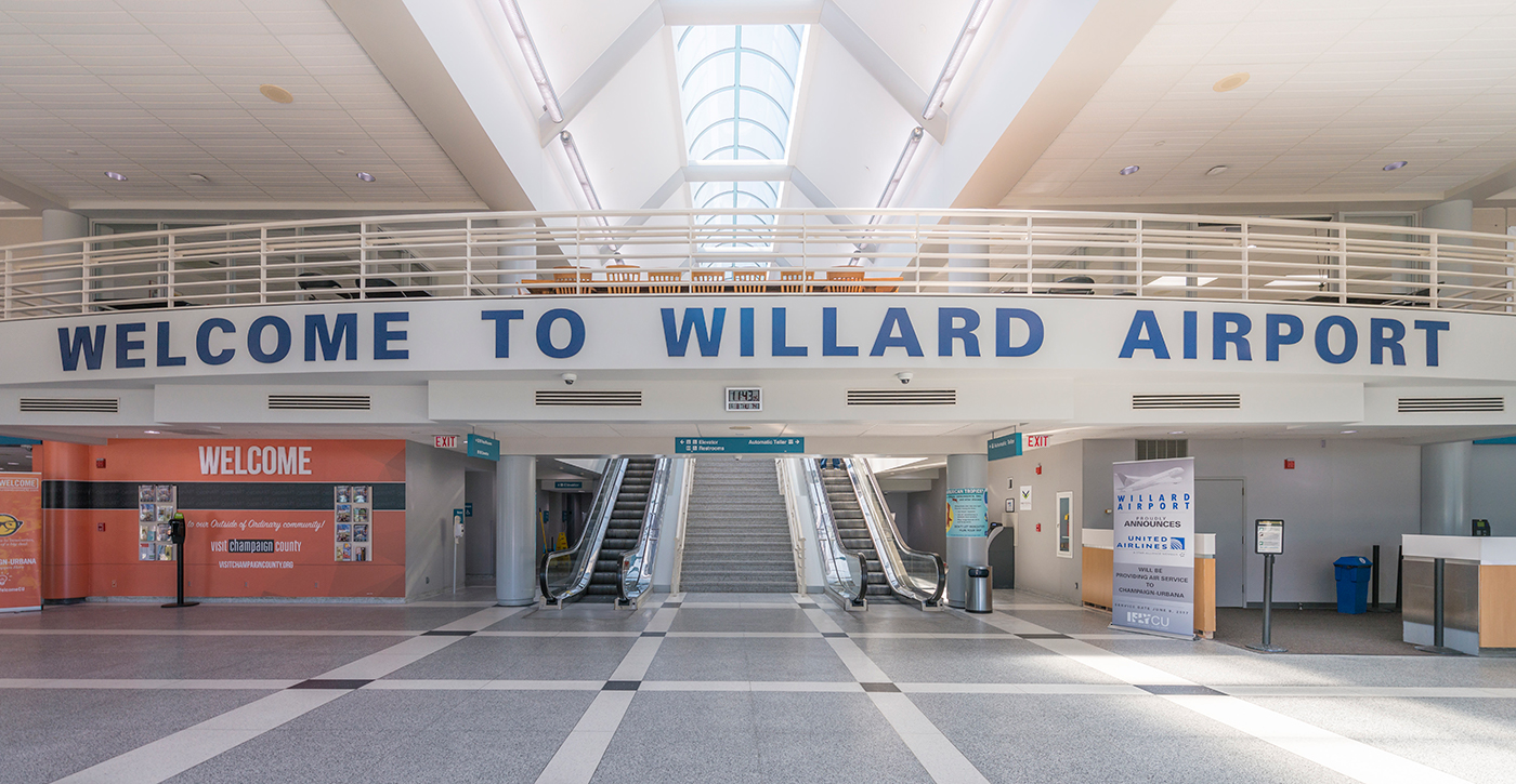 front entry of Willard Airport